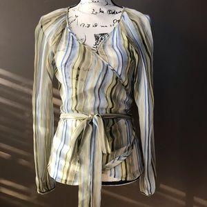 Women's wrap around blouse